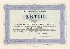 Schweiz: SIBI-Aktiengesellschaft in Schlieren-1935-500 Franken-Muster
