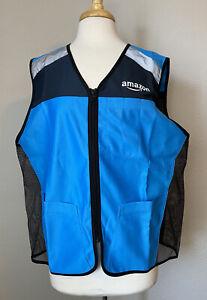 AMAZON *NEW* Blue Flex Delivery Reflective Safety Vest Size M/L NWOT #AFV01U