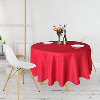 Red Round Polyester Table Cloth Cover Tablecover Tableware Party Decor UK