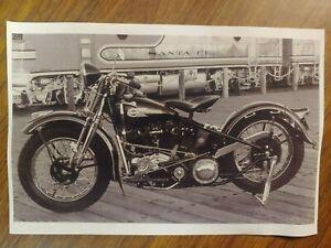 1949 HARLEY DAVIDSON V-TWIN MOTORCYCLE SANTA FE TRAIN SACRAMENTO CA 8X12 PHOTO
