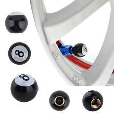 8 Ball auto car wheel tyre 4 PCS tire air Valve SteS& Caps stem cap Eight NEW SA