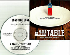 CIVIL WARS & T BONE BURNETT Long time Gone USA TST PRESS PROMO DJ CD single 2013