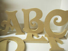 WOODEN FREESTANDING LETTERS Quality Ex Large 200mm High 18mm Thick VICTORIAN