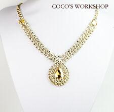 Collana Oro Vintage con Pendente Ovale - Faschion, a Caduta - Brillante