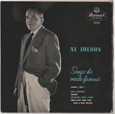 "Al Jolson - Songs He Made Famous 7"" Ep"