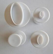 4 Mini Moules Gateaux Ovales Emportes Pieces Cake design Pate à Sucre & d'Amande