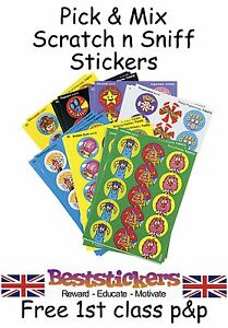 School Teacher Smelly Scratch n Sniff Reward Stickers  - Choose From 25 Scents