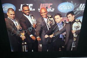UFC CHAMPS SIGNED 11x14 ANDERSON SILVA JON JONES FRANKIE EDGAR VELASQUEZ  CRUZ