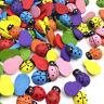 Mixed Bulk Ladybug Wood Buttons Lots Scrapbook Embellish Craft WB425