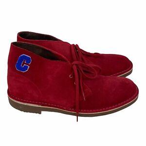 Clarks Bushacre 2 Chukka Boots Cherry Red Desert Suede Varsity Mens 9 M