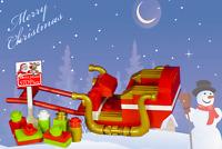 LEGO SANTA'S Sleigh with presents santa stop here sign new custom set