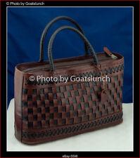 Vintage Tooled Leather Handbag Boho Hippy Chic