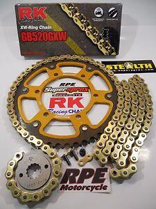 2008-2016 Honda CBR1000RR RK GXW Gold 520 SuperSprox QA Chain and Sprocket Kit