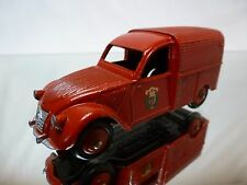 DINKY TOYS 25D CITROEN 2CV FOURGONNETTE INCENDIE - RED 1:43 - GOOD CONDITION