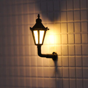 5pcs Model Railway 1:87 Hanging Lamps Outdoor Wall Lights HO Scale LBD04