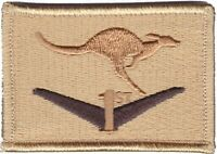 Army Australia RTF1 Afghanistan Deployment Patch hook backing