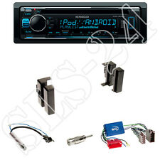 Kenwood KDC-300UV CD Radio  + Audi A4, A6, A8 Blende schwarz + ISO Adapter Set