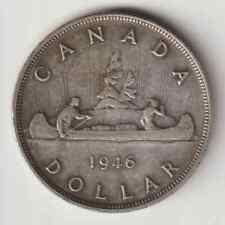 1946 Canada George VI  Silver $1 Dollar TONED Coin