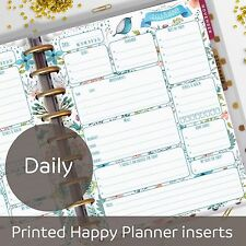 Daily planner inserts - Day on one page - for Classic MAMBI Happy Planner