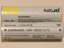 2 MXJO IMR 18650 Li-MN BATTERY HIGH DRAIN RECHARGEABLE 3.7v 2500mAh 35A w/cases