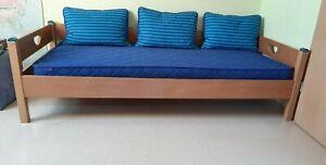 Paidi Varietta Hochbett Buche mit Hängregal, 90x200 , +Lattenrost, guter Zustand