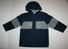 16bb27649b3e3 New Gymboree Boys Hooded Raincoat Jacket Navy Blue Gray Size 4 Year NWT