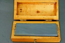 Vintage ~ Wet Stone / Sharpening Stone in Wood Box Two Sided Stone.
