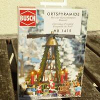 Busch 1415 H0 Orts- Weihnachtspyramide Weihnachtsmarkt, 4 x beleuchtete Lampen