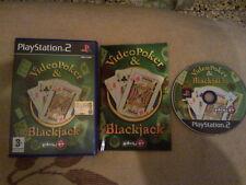 PS2 : VIDEO POKER & BLACKJACK - Completo !
