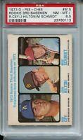 1973 OPC Baseball #615 Mike Schmidt Rookie Card RC Graded PSA 8.5 O-Pee-Chee 73