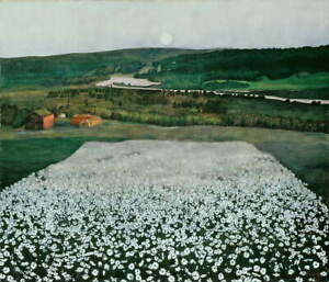 Harald Sohlberg Flower Meadow in the North Giclee Paper Print Poster