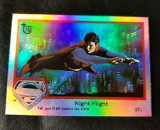 SUPERMAN Night Flight Holographic Card Christopher Reeves 1978 # 37 Topps 75
