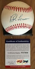BOB LEMON LICENSED PSA/DNA AUTHENTICATED SIGNED NEW AMERICAN LEAGUE BASEBALL