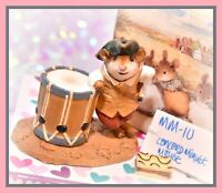 ❤️Wee Forest Folk MM-10 Concord Minute Mouse Colonial Painted Drum Retired WFF❤️