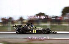 RONNIE PETERSON LOTUS JPS 76 Gran Premio di Spagna 1974 fotografia 3