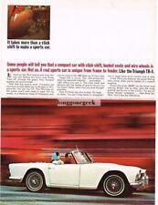 1963 Triumph TR-4 White Convertible Vtg Print Ad