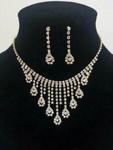 Women Fashion Gold necklace Set wedding and party wear, Uk seller