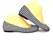 Nina Womens Ballet Flats Size 7.5 Black White Slip On Shoes