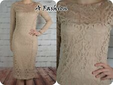 NEW RRP £55 NEXT LADIES UK 14 BLUSH BEIGE LACE DRESS