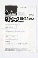 PIONEER GM-4541ZM/ZM-91 Woofer Amplifier Service-Manual/Schaltplan/Diagram o97