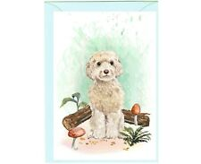 """Cockapoo Cream Dog (4""""x 6"""") Blank Card ideal for any occasion - by Starprint"""
