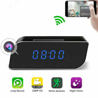Mirror Alarm Clock with HD 1080P Wifi Mini Camera Motion Home Security IR Cam