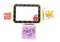 Lot Of 4 School Teacher Theme Wooden Rubber Back Stamps
