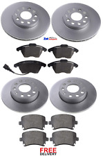 QSP Front Brake Discs Set for VW EOS 2006 to 2009
