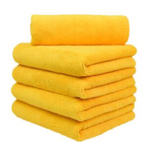 "5 Pcs Microfiber Towel Cleaning Cloths All-Purpose 16""x16"" 380 gsm orange"