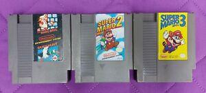 Original Super Mario Bros 1 2 3 Lot Trilogy Set Nintendo NES Carts Authentic