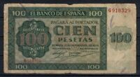 Billete España 100 pesetas Burgos 1936 G918329 paper money