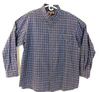 Duluth Trading Co Mens Long Sleeve Flannel Button Down Shirt Plaid Size 2XL Tall