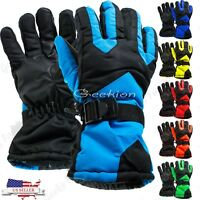 Men Women Winter Outdoor Sports Ski Thermal Insulation Waterproof Gloves Mittens
