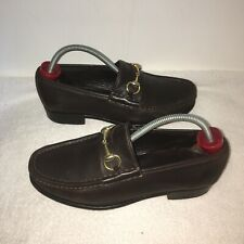 GUCCI HORSEBIT LOAFERS BROWN LEATHER SIZE UK 8 42